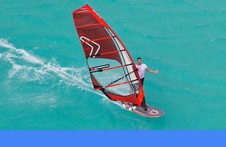 Sean O'Brien windsurfing